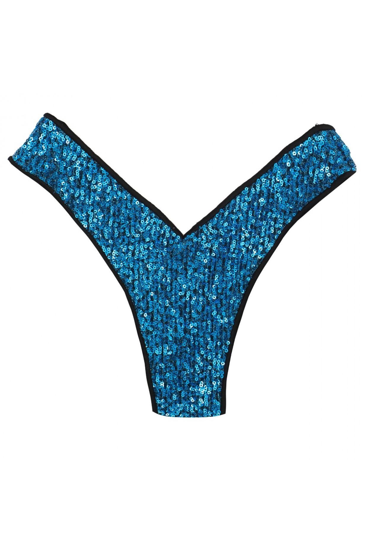 shine ocean brasiliana costume donna lurex pailettes classic blue